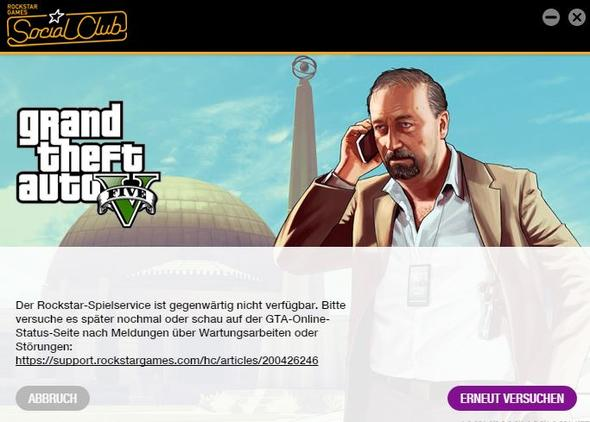 Fehlermeldung - (PC-Spiele, Server, GTA V)