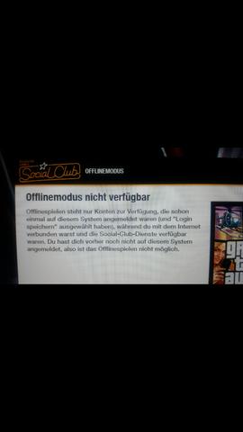 Offlinemodus nicht verfügbar - (PC, Windows, gta)