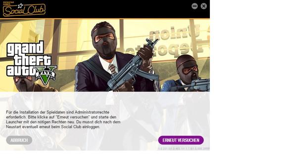Screenshot der Fehlermeldung - (Computerspiele, Windows, gta)