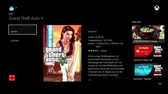 GTA 5 im Store (wie man sehen kann ist es gekauft) - (Download, GTA 5, Xbox Live)