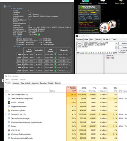 GTA erhöht CPU, gleichzeitig aber auch nicht?