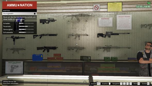Wie baue ich eine Waffen in die Standvariente züruck?