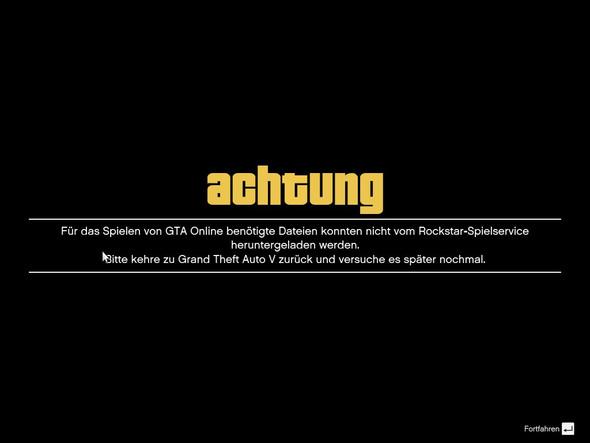 Diese fehlermeldung - (online, Fehlermeldung, GTA V)
