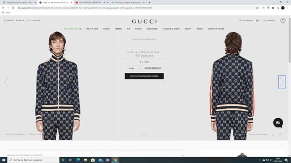 Gucci Anzug erkennt ihr es?
