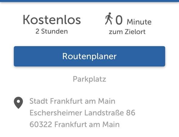 Günstig parken Frankfurt Westend?