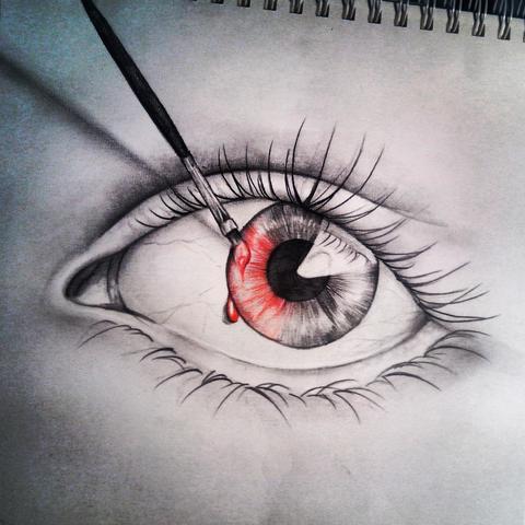 ein Auge von mir - (Kunst, zeichnen)