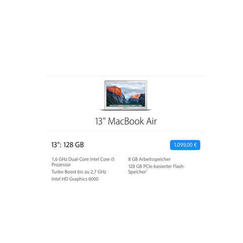 MacBook Air 13 Zoll - (PC, Apple, Macbook)
