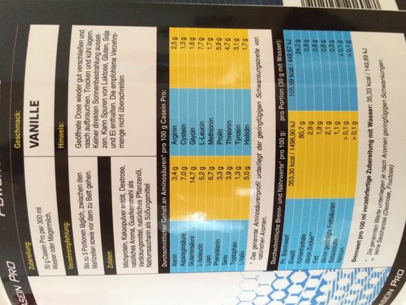 Casein Protein Shake - Pro Portion 30g - (Ernährung, Bauch)