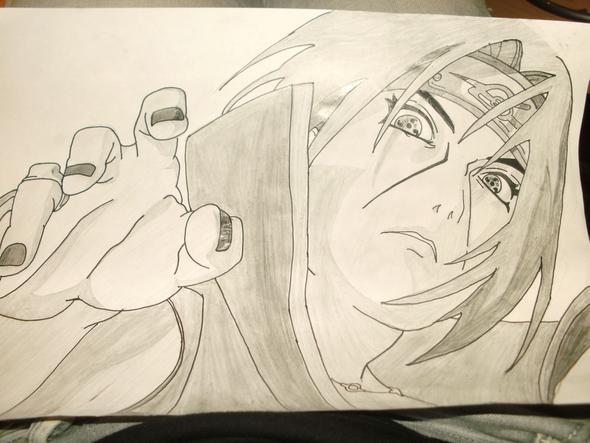 itachi - (zeichnen, Naruto, Schatten)