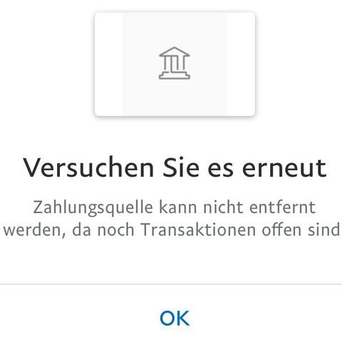 Paypal Bankkonto Entfernen Geht Nicht
