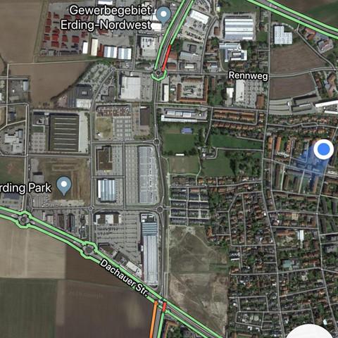 Guten Abend 🌇🌆 warum zeigt Google Maps Traffic Live in manchen on