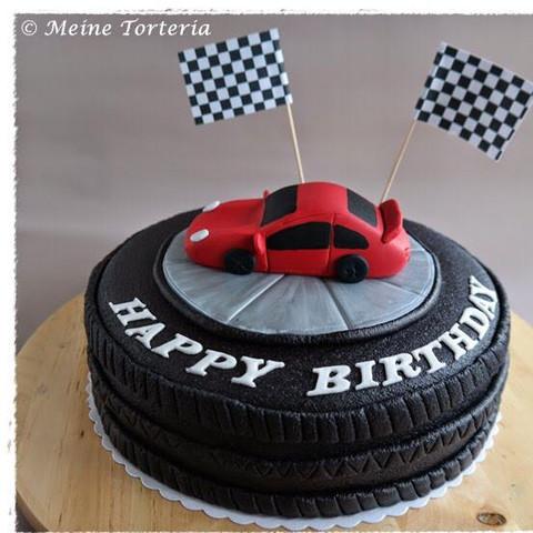 Guten Abend Leute Torte Kuchen Als Porsche Backen Geburtstag