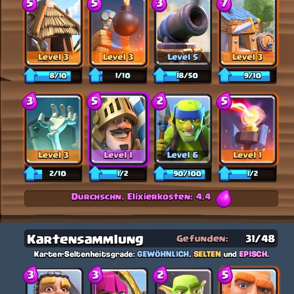 Gutes clash royale deck supercell royal for Clash royale deck molosse