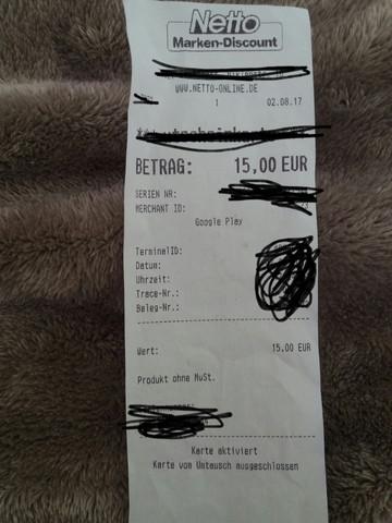 - (Technik, Gutschein, Play Store)