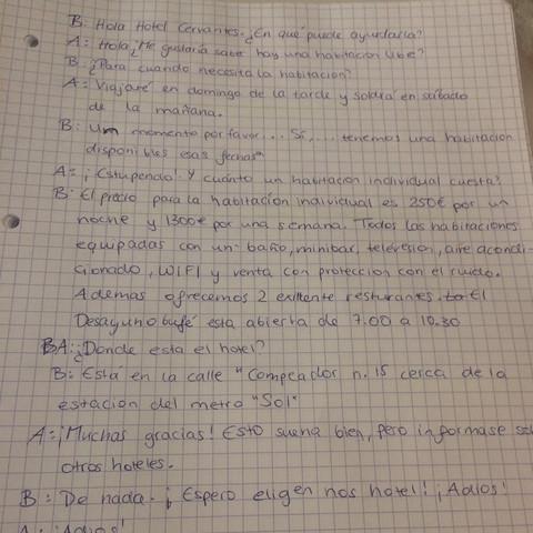 Rollenspiele in spanisch:  - (Schule, Hausaufgaben, spanisch)
