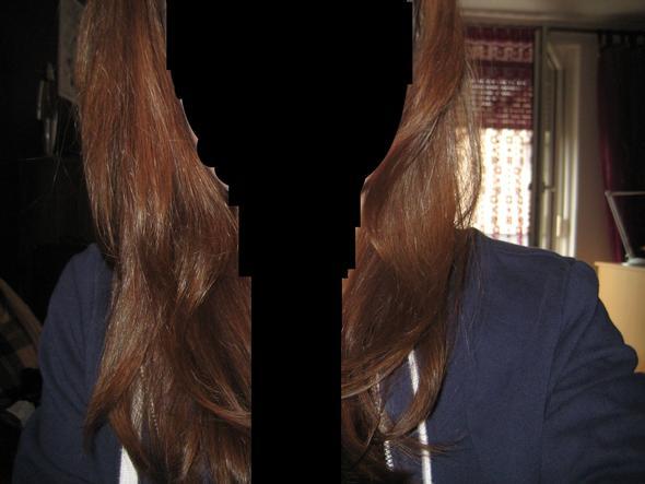 Haarfarbe davor.(Paint ist schon nützlich haha) - (Haare, Haarfarbe, Haarpflege)
