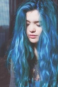 Haare Blau Färben Beim Frisör