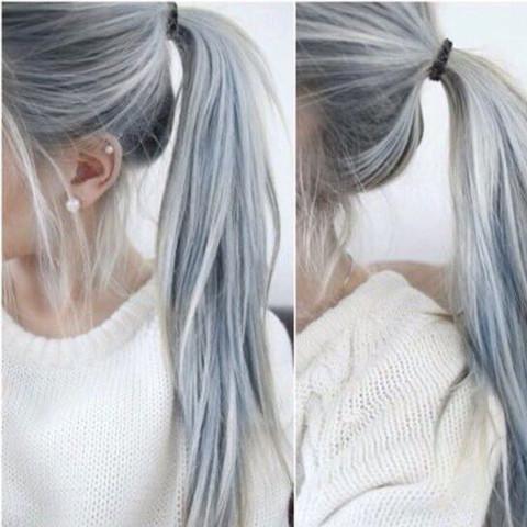 Haare Blau Grau Farben