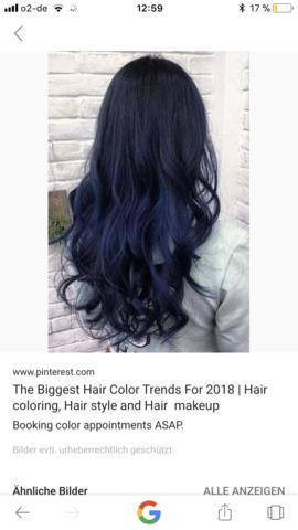 Haare blau ohne blondieren?