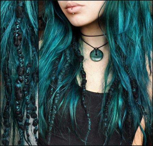 Blonde haare nach farben blau