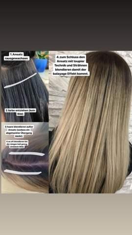 Haare blondieren richtige Reihenfolge?