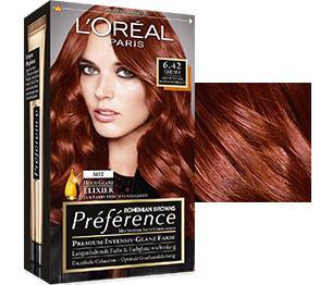 Haarfarben mahagoni kupfer