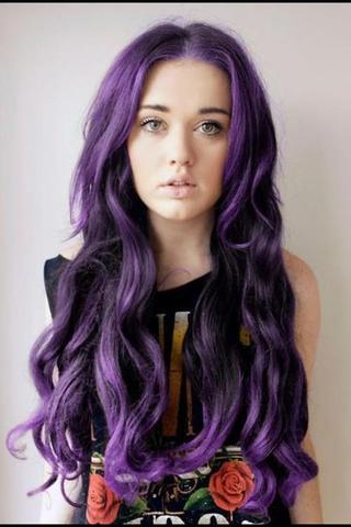 Haare Farben In Violett Farbe