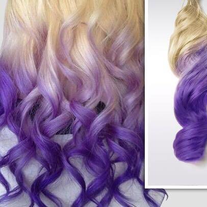 Blond mit lila spitzen