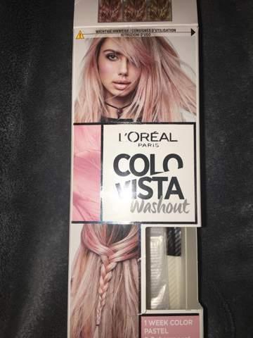 Haare färben mit L'Oréal Colovista Washout Pink?