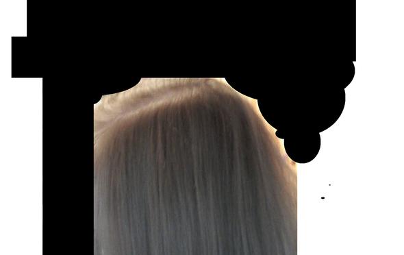 von (mir aus) links - (Haare, Farbe, Haarfarbe)