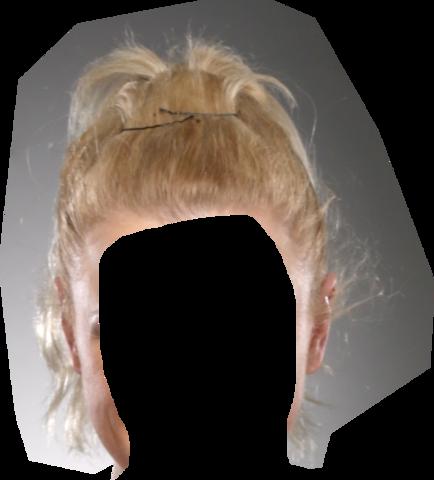 Blonde haare freistellen