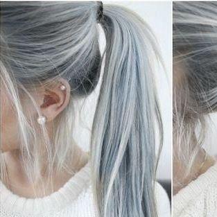 Braune haare grau bekommen