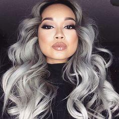 Graue Haare Mit Blonden Strähnchen Aufpeppen 20 Dunkelbraune Haare