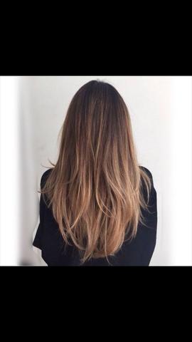 es geht eher um dir untere partie, also das hellere braun - (Haare, färben)