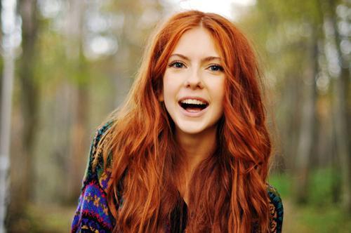 Haare In Natürlichem Rot Färben Mädchen Beauty Mode