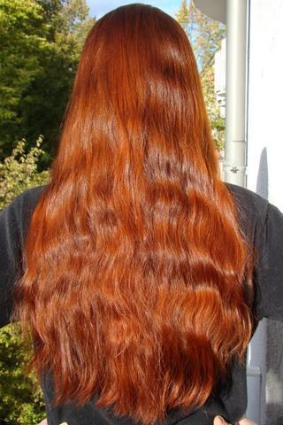 Feine haare mit henna farben