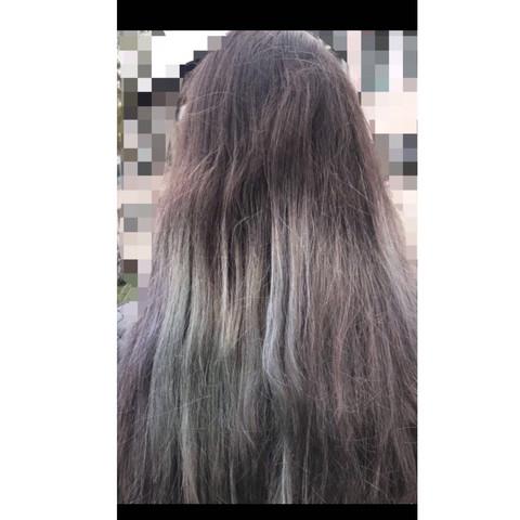 Haare Lila Blau Grün Braun Beauty Farbe Färben