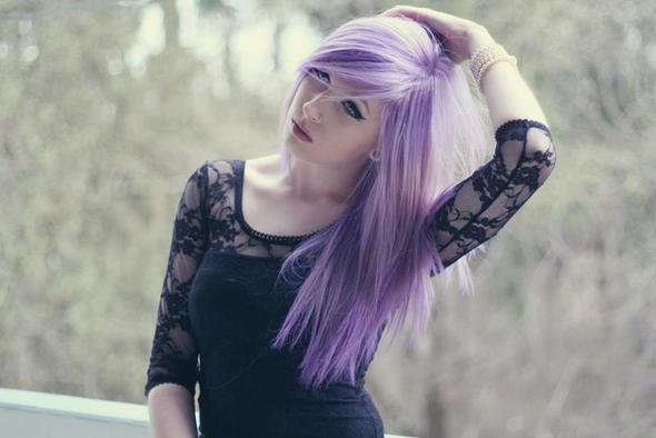 Haare Lila Tonen Trotz Blauer Augen Beauty Aussehen Schonheit