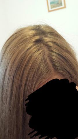 Lila ombre braune haare