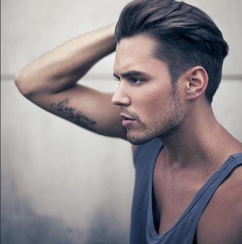 Mittellange Haare Nach Hinten Stylen Manner Modische Lange Frisuren