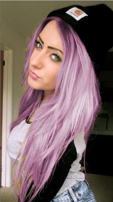 Haare pastell lila tönen (Beauty, Haare färben, directions)