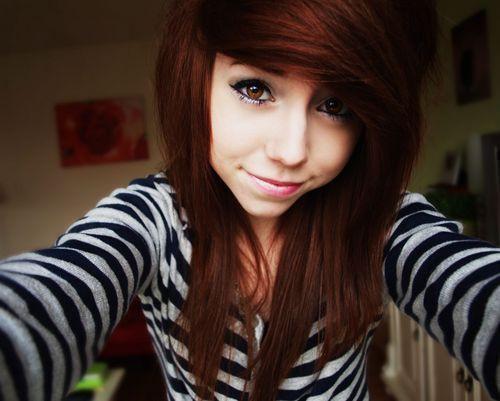 Haare tonen von rot auf braun