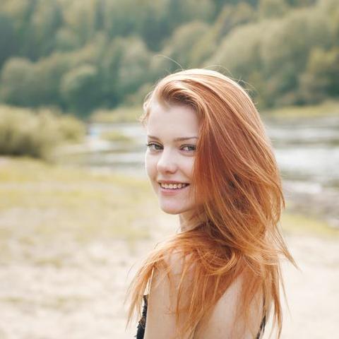 Haare rotblond tonen