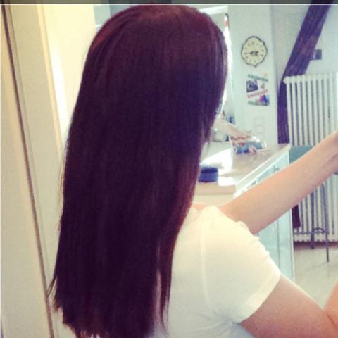 Haare vorher  - (Haare, Kieselerde, Biotin)