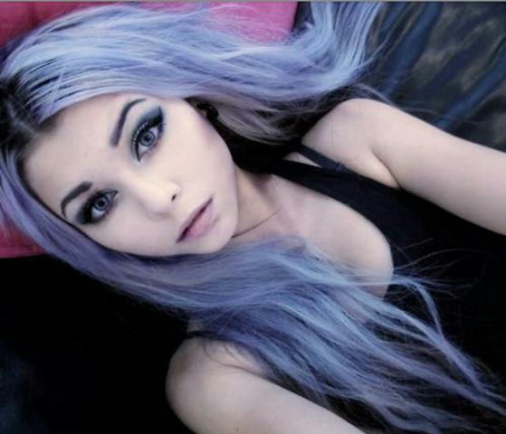 lila/blau - (Haare, Tönung)