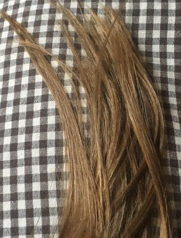 Meine Haarspitzen👆Die blondierten Strähnchen sieht man irgendwie nur im Ansat😂 - (Haare, Friseur, Haarfarbe)