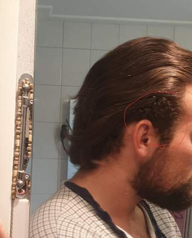 Nacken haare männer lange Nacken Kurz