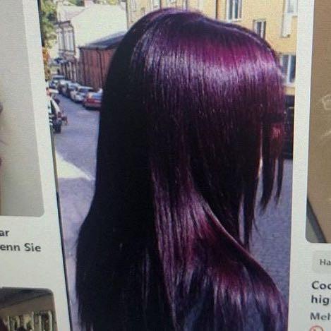 Ist halt lila violett  - (Beauty, Haarfarbe, haarefärben)