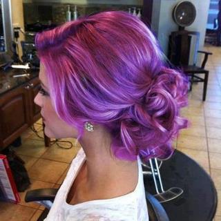 so ein lila  - (Haarfarbe, lila)