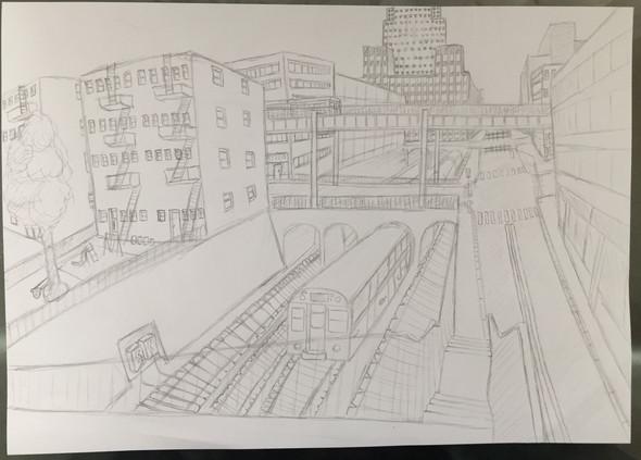 My drawing - (Kunst, Stadt, Zeichnung)